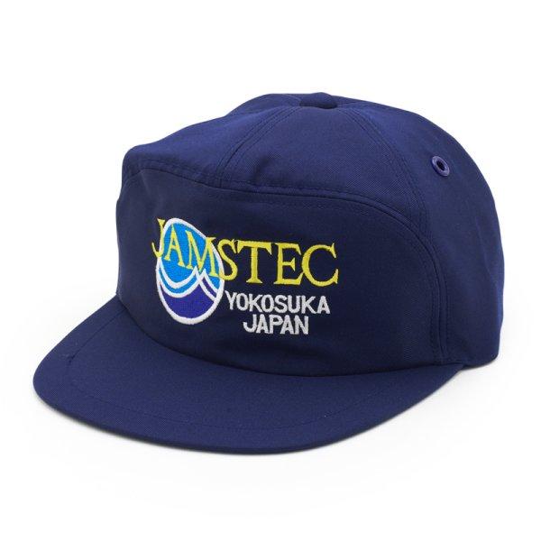 画像1: 02 帽子 JAMSTECロゴ ネイビー (1)